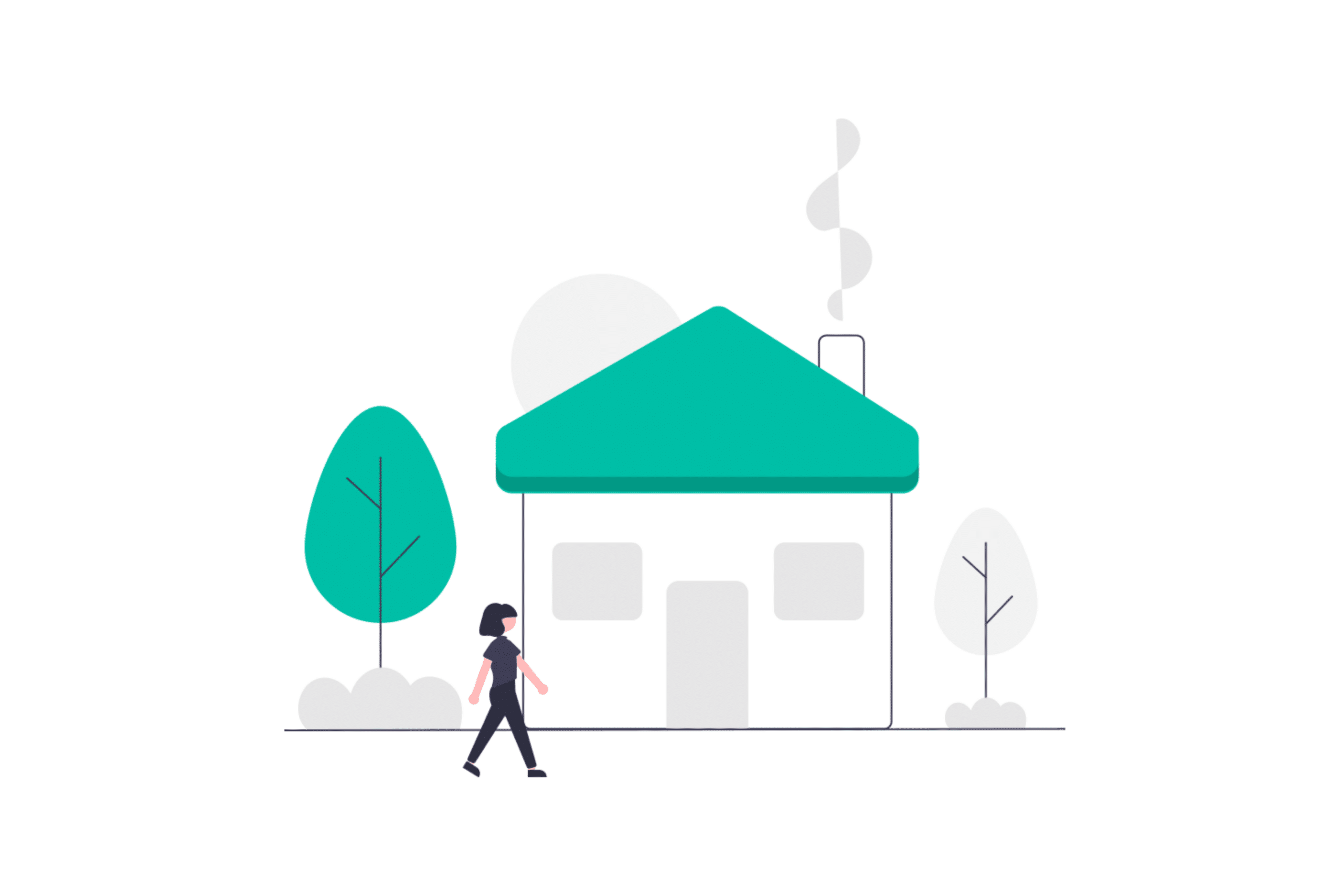illustration about a landlord admiring his new property