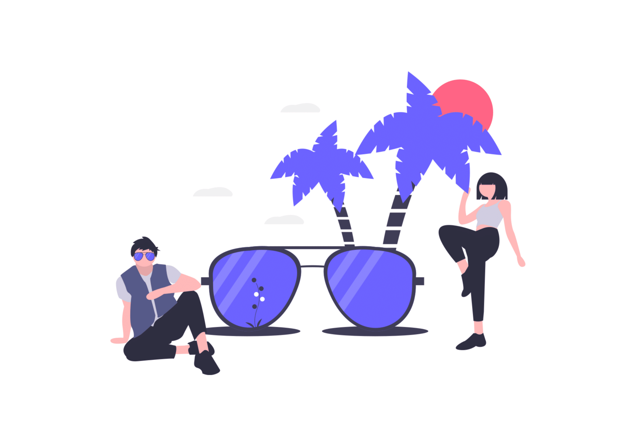 illustration about two people enjoying summer in DC