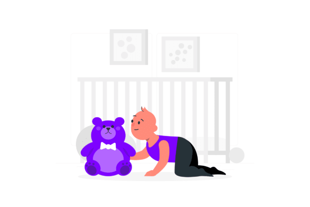 Illustration about a good nursery in a property