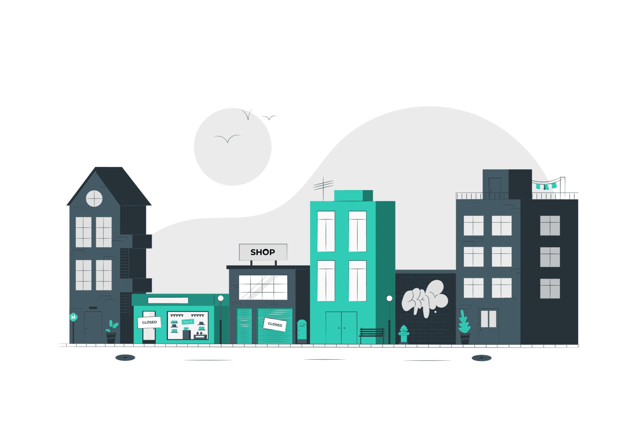 Illustration about commercial real estate management