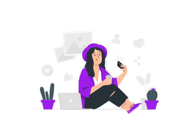 Illustration about a millennial checking places to live in
