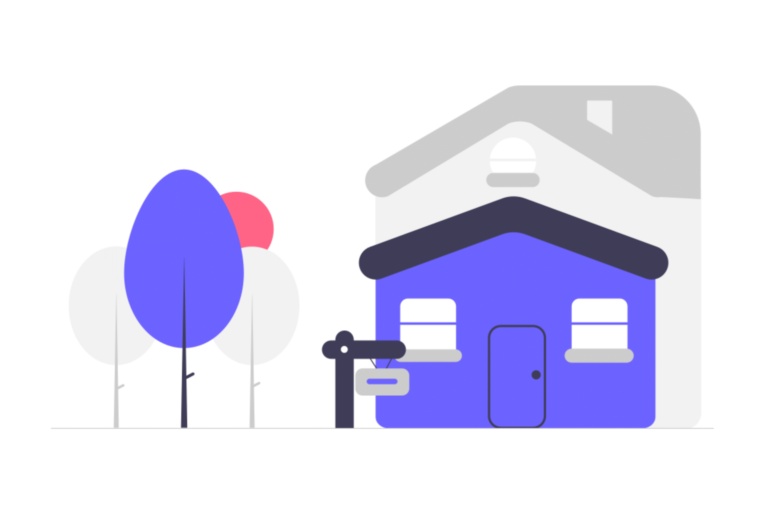Illustration about home downsizing and its benefits