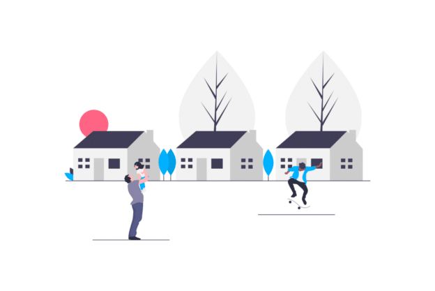Illustration about the lovely town of Arlington, Virginia