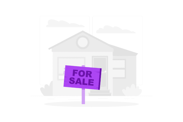 illustration about a house that it's being sold