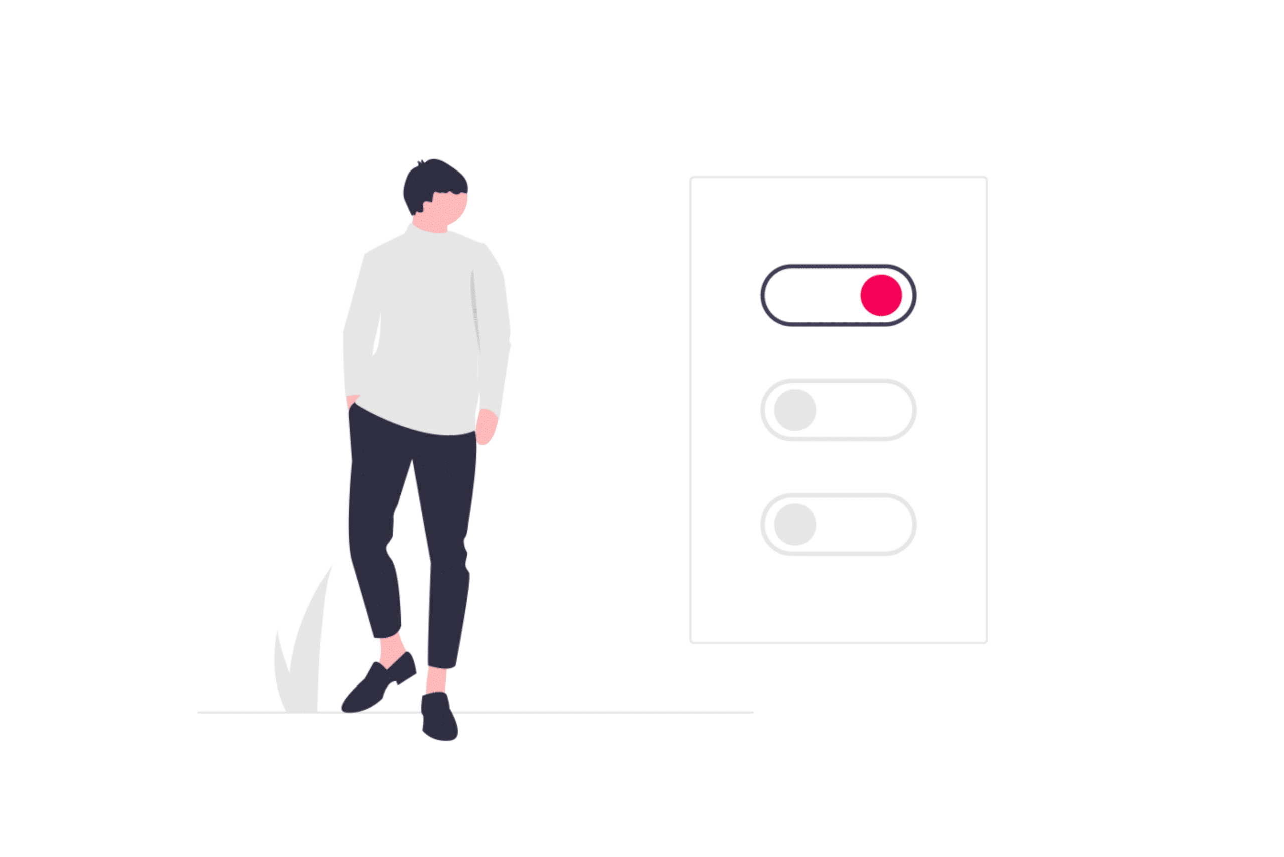 Illustration about making the switch for a better option