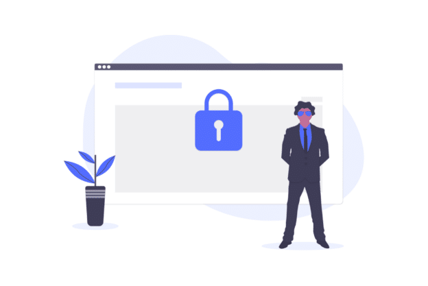 illustration about a security breach