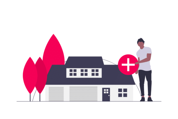 Illustration about adding good insurance to all of your properties