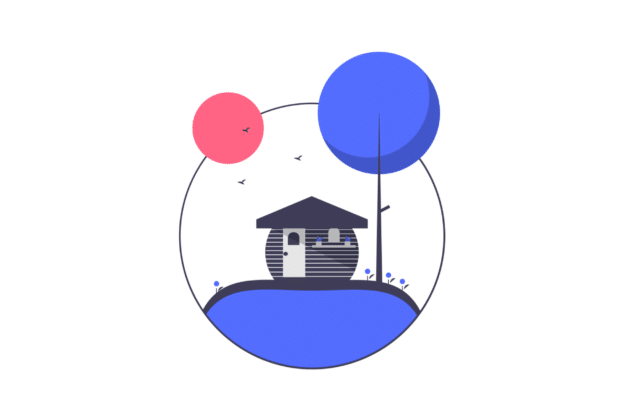 Illustration about a nice vacation property