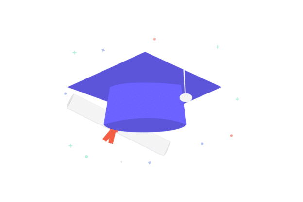 Illustration about a graduation hat referring to the potential investment market surrounding college