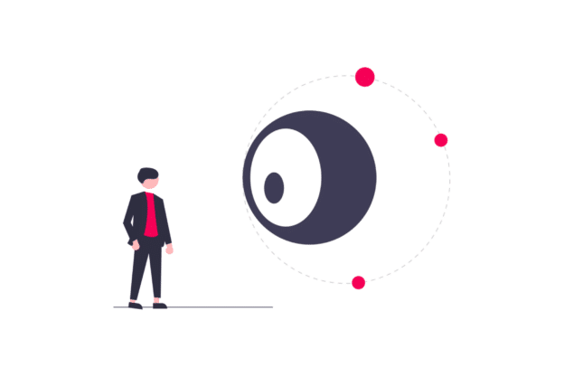 Illustration about always watching your properties and investments