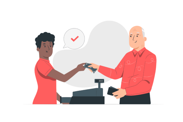 Illustration about a sale in a pop up store