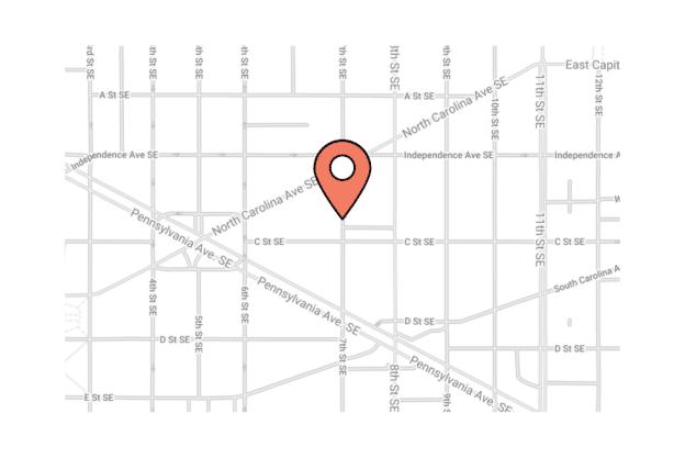 Illustation about the map of Washington city, the eastern market area