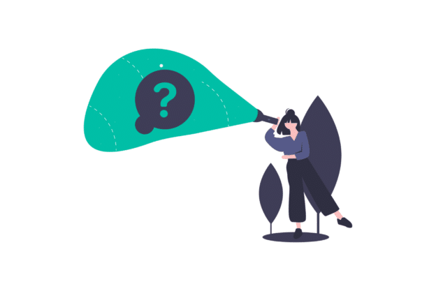 Illustration about the question of becoming a property manager