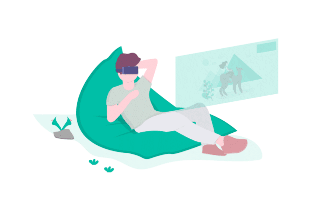 Illustration about virtual reality real estate tours