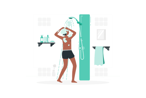Illustration about the good use of hot water heaters