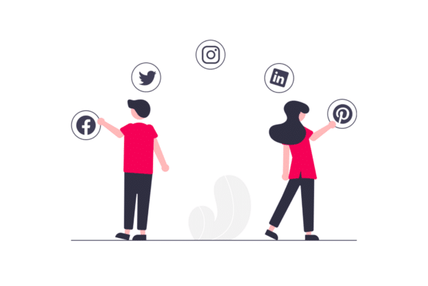 illustration about the importance of social media