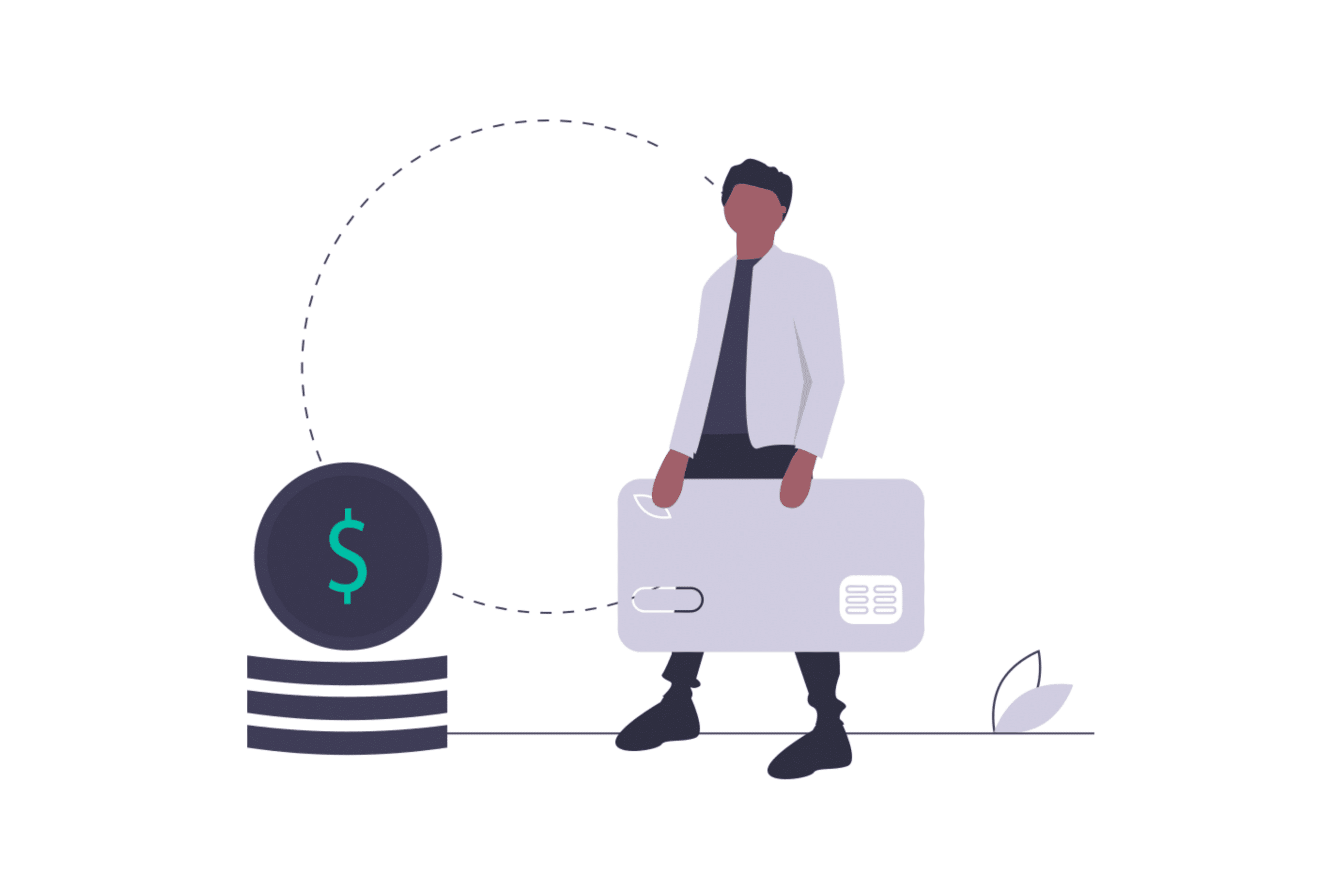 illustration about a tenant holding his money and refusing to pay