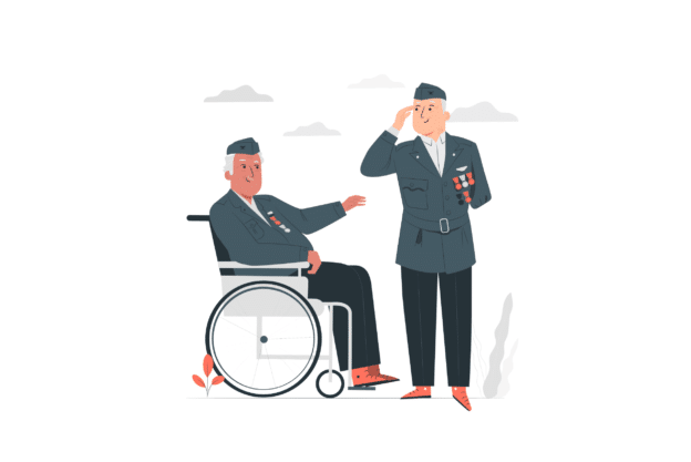 Illustration about military people looking for place to rent