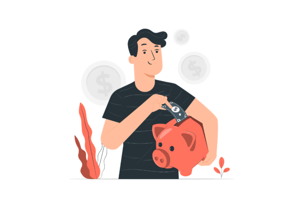 Illustration about a smart landlord saving a lot of money with a property manager