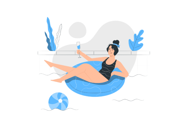 Illustration about a pool as a good home improovement