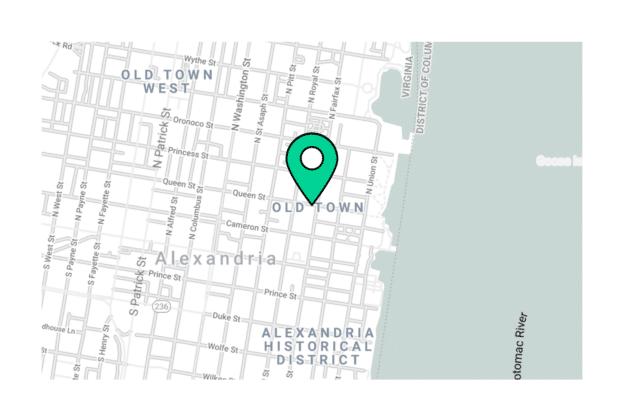Illustration about the Arlington map, The Alexandria neighborhood