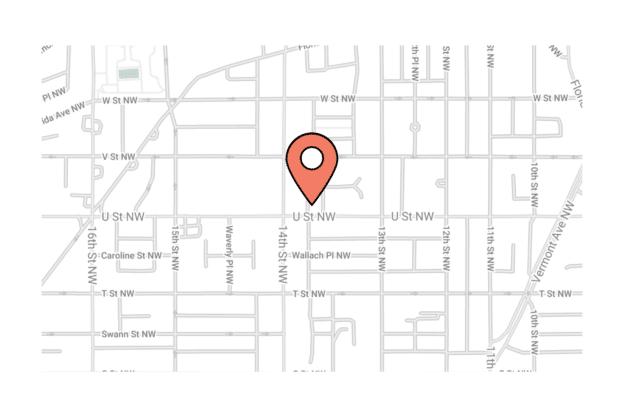 Illustration about the Washington city map, the U Street Area