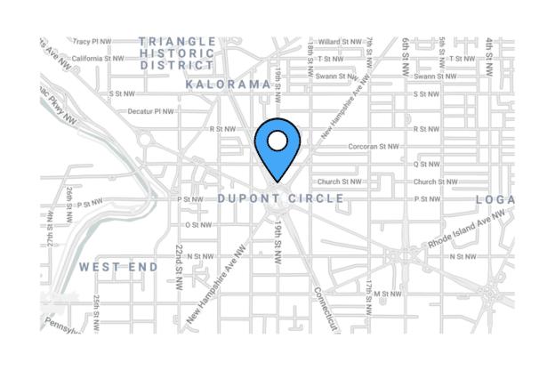 Illustration about the Washington DC Map, the Dupont Circle Area