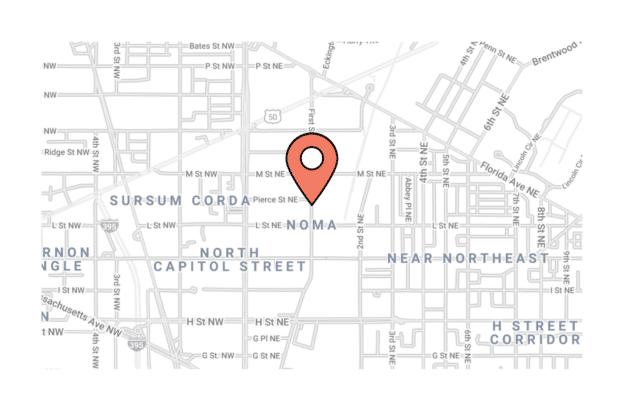 Illustration about the Washington DC Map, the NoMa neighborhood
