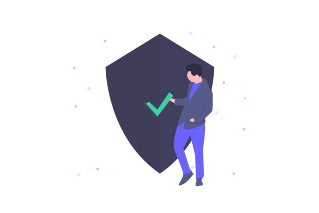 Illustration about a good and secure property