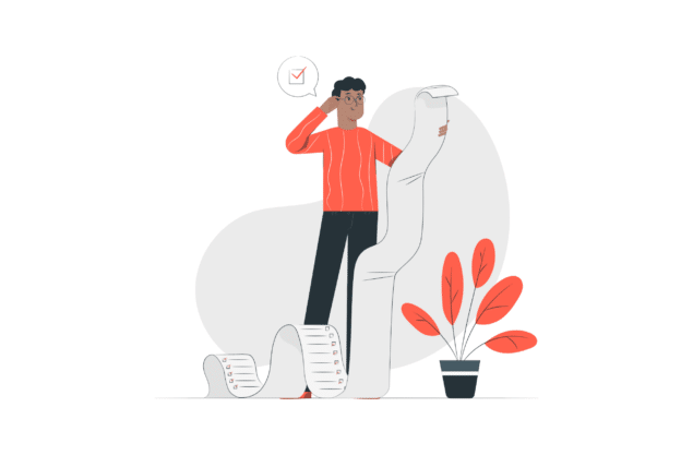 Illustration about the important checklist to follow when looking for a place to live